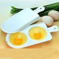 New Two Eggs Microwave Cooker Poacher Poaching Accessories Random Color