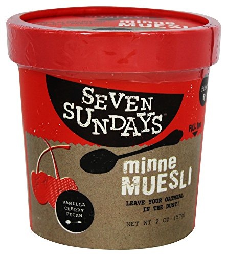 Seven Sundays Vanilla Cherry Pecan Muesli Cup, 2 Ounce (Pack of 6)