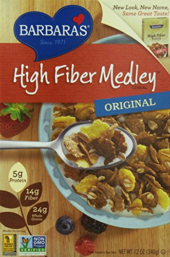Barbara's High Fiber Medley Cereal, Original, 12 Ounce (Pack of 6)