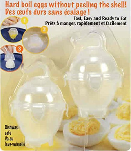 2-pc No Peel Hard Boiled Egg Cookers