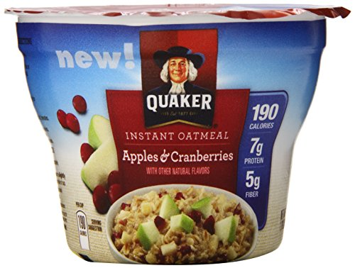 Quaker Instant Oatmeal Instant Oats Express, Apple Cranberry, 1.79 Ounce (Pack of 12)