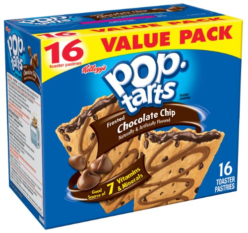 Pop-Tarts, Frosted Chocolate Chip, 16-Count Tarts (Pack of 8)
