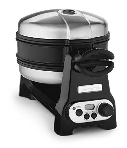 KitchenAid KWB110OB Waffle Baker with CeramaShield Nonstick Coating – Onyx Black