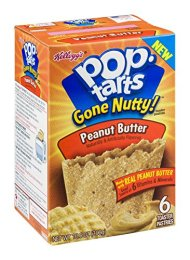 Pop-Tarts Gone Nutty Peanut Butter Toaster Pastries (Case of 12)