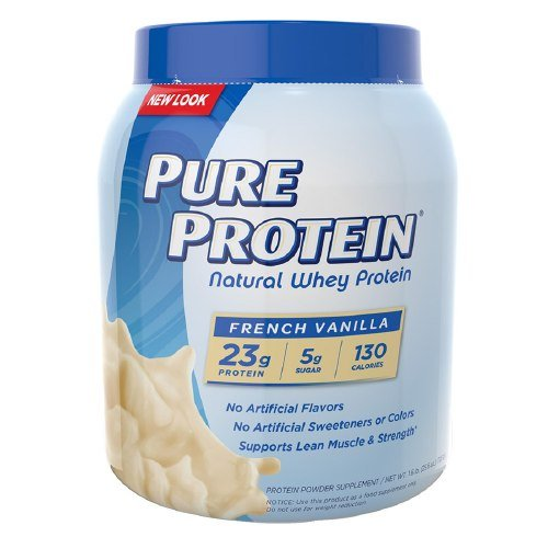 Pure Protein Natural Whey Protein, French Vanilla 1.6 lb