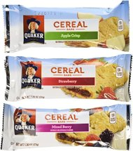 Quaker Cereal Bars Variety Pack 48 Count,1.3 OZ (37g) each