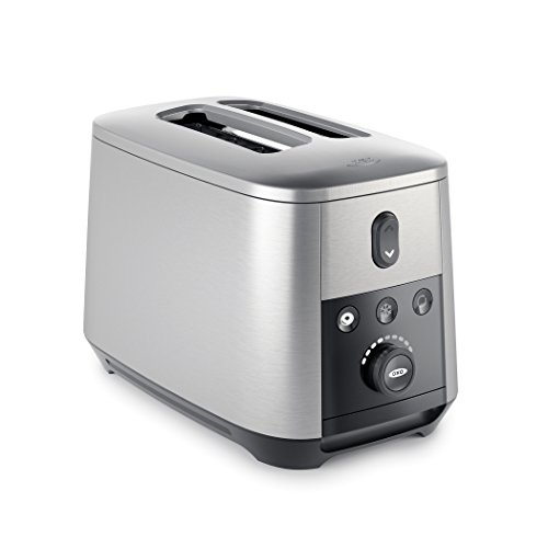 OXO On Up-to-You 2 Slice Motorized Toaster, Silver