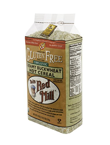 Bob's Red Mill Organic Gluten Free Creamy Buckwheat Hot Cereal, 18-Ounce (Pack of 4)