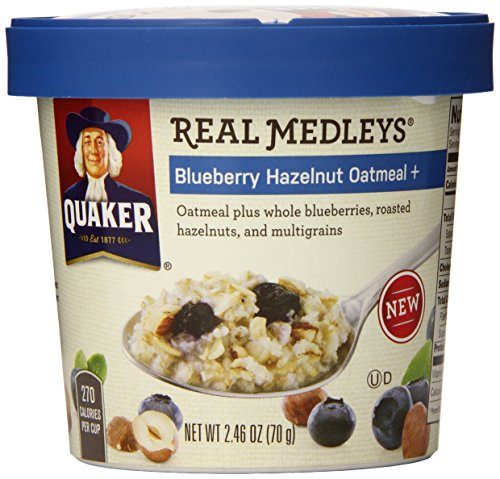 Quaker Oats Real Medleys Oatmeal, Blueberry Hazelnut, 2.46 Ounce