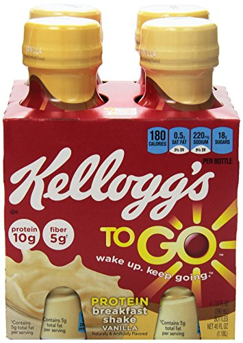 Kellogg's Breakfast to go Shake, Vanilla, 4-Count