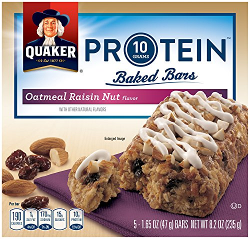 Quaker Protein Baked Bars, Oatmeal Raisin, 8.2 Ounce