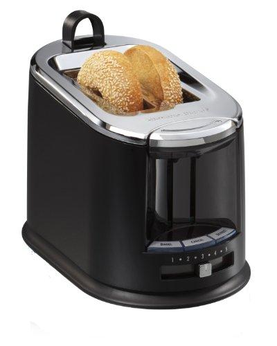 Hamilton Beach SmartToast Extra-Wide Slot 2 Slice Toaster with Tongs