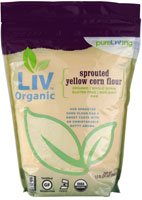Pure Living Liv Organic Sprouted Yellow Corn Flour — 24 oz