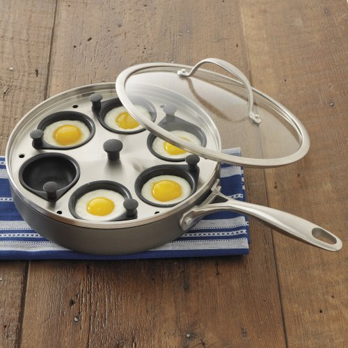 CHEFS Hard Anodized Egg Poacher Pan