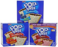 Kellogg's Poptarts Toasters, Strawberry, Blueberry and Cherry, 48 Count