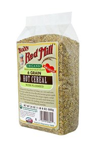 Bob's Red Mill Organic 6 Grain Hot Cereal, 24-Ounce (Pack of 4)