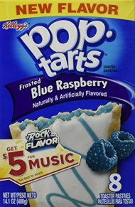 Pop-Tarts Frosted Blue Raspberry, 8 Count (Pack of 12)