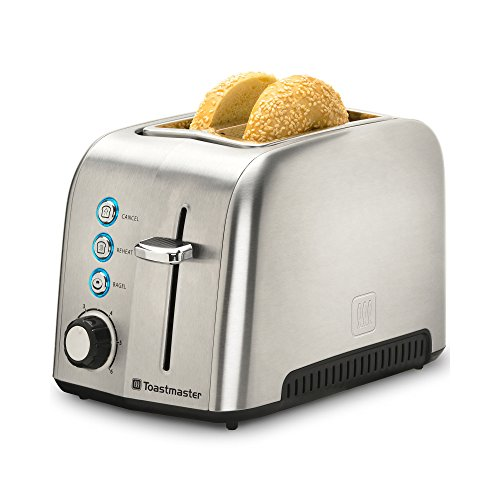Toastmaster TM-23TS 2 Slice Toaster, Stainless Steel