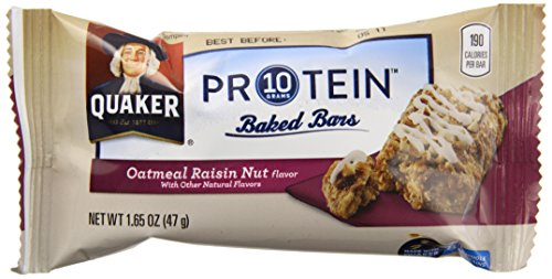 Quaker Protein Baked Bars, Oatmeal Raisin, 65.6 Ounce (Pack of 8)