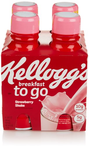 Kellogg's Breakfast To Go Shake, Strawberry (4 Count, 10 Fl Oz Each)
