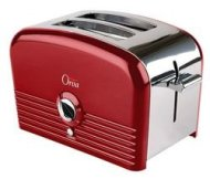 Orva 2-Slice Auto Stainless Steel Toaster for Toast Bagels, 750W, Hot Red