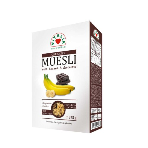Vitalia Muesli, Banana Chocolate, 13.3 Ounce (Pack of 6)