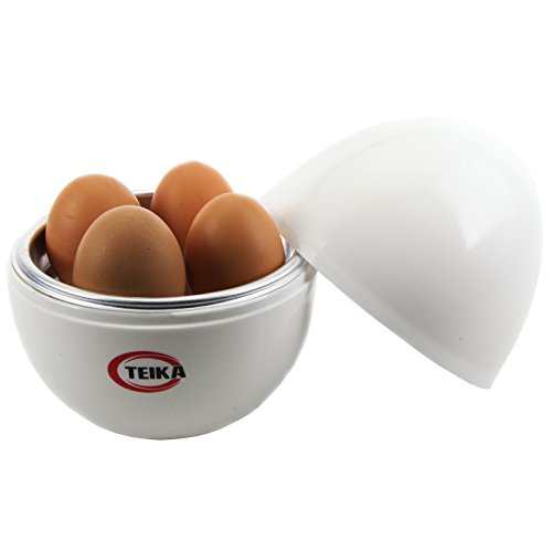 Teika® Microwave Egg Boiler Cooker Chicken Shaped Egg Poacher Plastic for 4 Eggs Kitchen Exclusive Electric Egg Cooker Aluminum