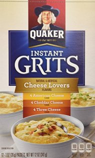 Quaker Instant Grits Cheese Lovers' Flavor 12 Servings