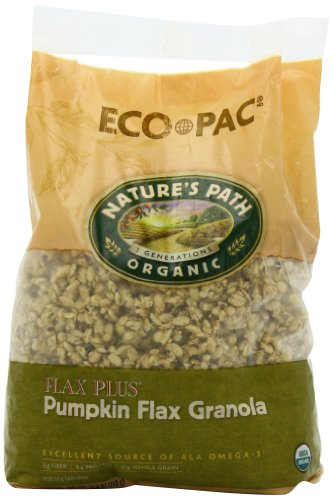 Nature's Path Organic  Flax Plus, Pumpkin Granola Cereal, 26.4-Ounce Bags (Pack of 6)