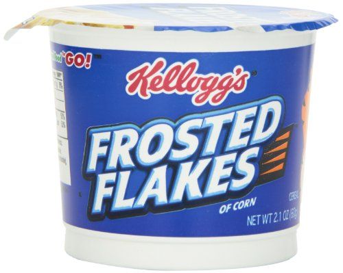 Kellogg's Frosted Flakes Cereal In A Cup,  2.1-Ounce (Pack of 12)