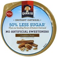 Quaker Instant Oatmeal Express Cups 50% Less Sugar, Cinnamon Pecan, 1.41 Ounce