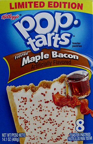 Kelloggs Limited Edition Pop Tarts Frosted Maple Bacon, 2 Boxes of 8 Pastries