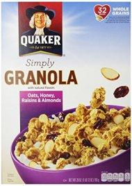 Quaker Granola Oats, Honey, Almonds & Raisins, 100% Natural, 28 oz
