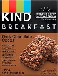 KIND Breakfast Bars, Dark Chocolate Cocoa, 1.8oz, 32 Count