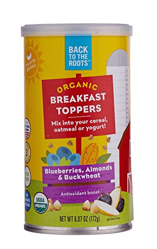 Back to the Roots Organic Breakfast Toppers: Blueberries, Almonds & Buckwheat (Pack of 1)