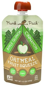 Munk Pack Oatmeal Fruit Squeeze Pouch, Apple Quinoa Cinnamon, 4.2 oz, 6 Pack
