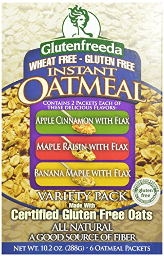 Glutenfreeda's Instant Oatmeal, Variety Pack, 6-Count Packets (Pack of 8)