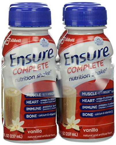 Ensure Complete Nutrition Shakes, Vanilla, 8 Ounce, 4 Count