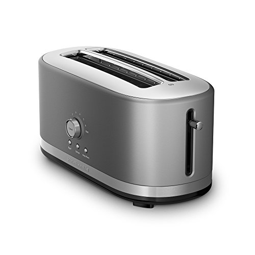 KitchenAid KMT4116CU 4 Slice Long Slot Toaster with High Lift Lever, Contour Silver