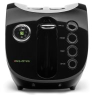 3 Squares Wide Slot 2-Slice Cool-Touch Toaster with Silicone Cover, Black