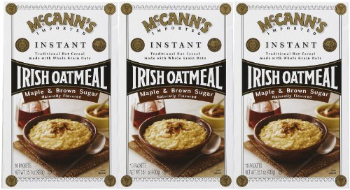 McCanns Instant Irish Oatmeal Maple Brown Sugar, 10 ct, 3 pk
