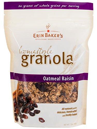 Erin Baker's Homestyle Granola, Oatmeal Raisin, 12-Ounce Bags (Pack of 6)