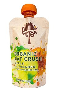 Pumpkin Tree Organic Oat Crush, Apple/Cinnamon, 4.2-ounce pouches (Pack of 8)