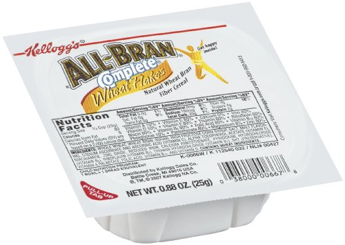 All Bran Complete Wheat Bran Flakes, 0.875-Ounce Bowls (Pack of 96)