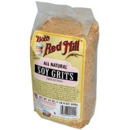 Bob's Red Mill Defatted Soy Grits – 24 oz