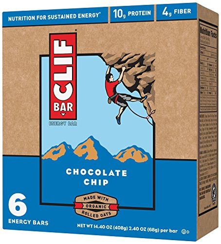 CLIF ENERGY BAR – Chocolate Chip – (2.4 oz, 6 Count)
