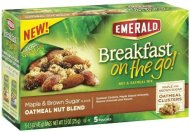 Emerald, Breakfast on the Go! Oatmeal Nut Blend, Maple & Brown Sugar, 7.5oz (Pack of 3)