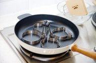 Uncle Jack's 304 Stainless Steel Cooking Rings Fried Egg Mold Pancake -4 Pack(Shape Heart, Round, Flower, Kitty Cat)