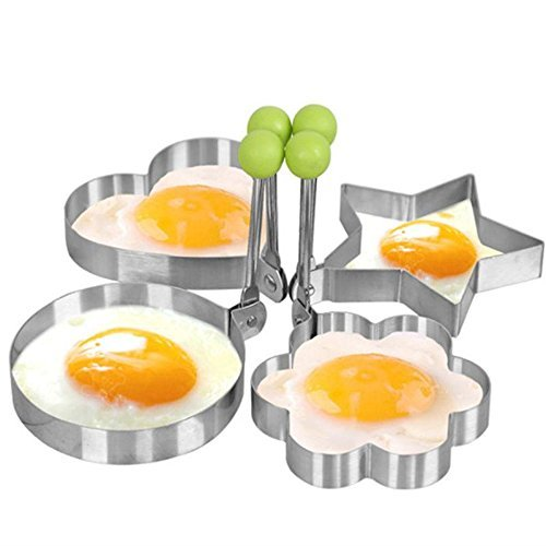 naughtygifts egg mold Egg Shaper egg ring pancake molds egg mould Stainless Steel Mold Cooking Kitchen Tools