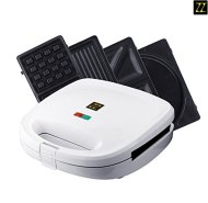 ZZ S6141A 4 in 1 Breakfast Waffle Omelette and Sandwich Maker, White
